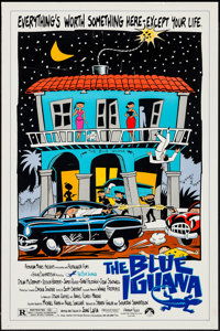 """The Blue Iguana & Others Lot (Paramount, 1988). One Sheets (7) (27"""" X 41"""") & Video Poster (26&..."""