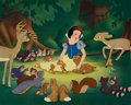 Animation Art:Poster, Snow White and the Seven Dwarfs Dye Transfer Print Group of2 (Walt Disney, 1937-50s).... (Total: 2 Items)
