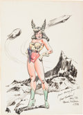 Original Comic Art:Splash Pages, Maurice Whitman - Space Woman Pin-Up Original Art (1946)....