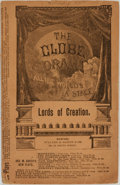 Books:Americana & American History, Ella Cheever Thayer. Lords of Creation. Woman Suffrage Drama inThree Acts. Boston: Walter H. Baker & Co., [1883...
