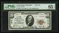 National Bank Notes:Maryland, Cumberland, MD - $10 1929 Ty. 2 The Second NB Ch. # 1519. ...