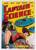 Golden Age (1938-1955):Science Fiction, Captain Science #3 (Youthful Magazines, 1951) Condition: FN-....