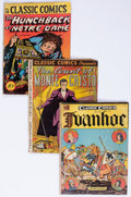Golden Age (1938-1955):Classics Illustrated, Classic Comics #2, 3, and 18 Group (Gilberton, 1944) Condition:Average GD.... (Total: 3 Comic Books)