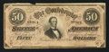 Confederate Notes:1864 Issues, T66 $50 1864 PF-1 Cr. 495.. ...