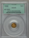 California Fractional Gold , 1868 50C Indian Octagonal 50 Cents, BG-960A, High R.6, MS65PCGS....