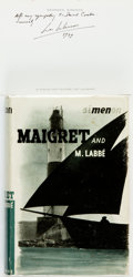 Books:Mystery & Detective Fiction, [Featured Lot]. Georges Simenon. Maigret and M. Labbé.London: George Routledge & Sons, [1941]....