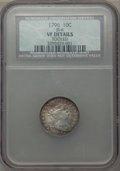 Early Dimes, 1796 10C JR-6, R.3 -- Tooled -- NCS. VF Details....