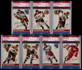Hockey Cards:Lots, 1954 Topps Hockey PSA Graded Collection (7)....