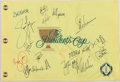 Golf Collectibles:Autographs, The President's Cup Multi Signed Flag - With Spieth!....