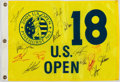 Golf Collectibles:Autographs, 2005 U.S. Open Multi Signed Flag....