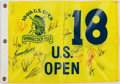 Golf Collectibles:Autographs, Golf Greats Multi Signed Flag....