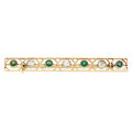 Estate Jewelry:Brooches - Pins, Diamond, Glass, Gold Brooch. ...