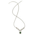 Estate Jewelry:Necklaces, Tourmaline, Diamond, White Gold Necklace. ...
