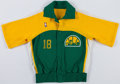 Basketball Collectibles:Uniforms, 1980's Seattle Supersonics (Baker) Game Worn Warmup Jacket....