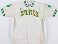 Basketball Collectibles:Uniforms, 1993-94 Ed Pinckney Game Worn Boston Celtics Warmup Jacket andPants....