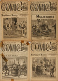 Books:Periodicals, [Periodical]. Four Issues of The Five Cent Comic Library.New York: Frank Tousey, [various dates between 1893-18...