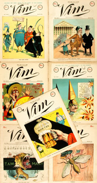 Group of Seven Issues of Vim, Vol. I, No. 1-7. Vim Publishing Co., June 22 - August