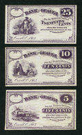 Obsoletes By State:Ohio, Orwell, OH- (C.A.B. Pratt) at the Bank of Geauga 5¢; 10¢; 25¢ 1863.... (Total: 3 notes)