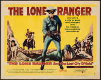 """The Lone Ranger and the Lost City of Gold (United Artists, 1958). Half Sheet (22"""" X 28"""") Style B. Western"""