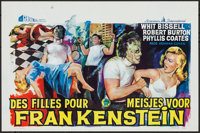"I Was a Teenage Frankenstein (General Films, 1957). Belgian (14.25"" X 21.5""). Horror"