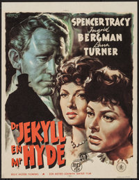 """Dr. Jekyll and Mr. Hyde (MGM, 1947). First Post-War Release Dutch Poster (21.5"""" X 28.25""""). Horror"""
