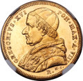 Italy:Papal States, Italy: Papal States. Gregory XVI gold 5 Scudi 1838-R Year VIII MS63NGC,...