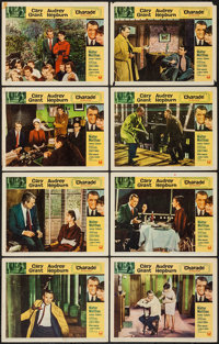 "Charade (Universal, 1963). Lobby Card Set of 8 (11"" X 14""). Mystery. ... (Total: 8 Items)"