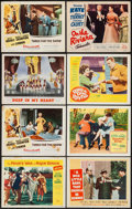 "Movie Posters:Musical, Three for the Show & Others Lot (Columbia, 1954). Lobby Cards(8) (11"" X 14""). Musical.. ... (Total: 8 Items)"