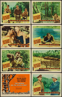 """The Bridge on the River Kwai (Columbia, 1958). Lobby Card Set of 8 (11"""" X 14""""). War. ... (Total: 8 Items)"""