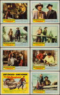 "Movie Posters:Western, The Unforgiven (United Artists, 1960). Lobby Card Set of 8 (11"" X 14""). Western.. ... (Total: 8 Items)"