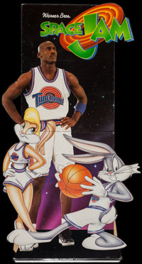 "Space Jam (Warner Brothers, 1996). Standee (34"" X 63"") & Advance Promo Posters (8) (11"" X 17""..."