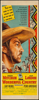 """The Wonderful Country (United Artists, 1959). Insert (14"""" X 36""""). Western"""
