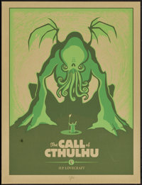 """The Call of Cthulhu & Other Lot (Spike Press, 2011). Autographed Limited Edition Screen Print Poster (19"""" X 25&..."""