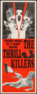 """Movie Posters:Horror, The Thrill Killers (Hollywood Star, 1965). Insert (14"""" X 36"""").Horror.. ..."""