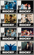 "Movie Posters:Academy Award Winners, Rocky (United Artists, 1977). Lobby Card Set of 8 (11"" X 14""). Academy Award Winners.. ... (Total: 8 Items)"