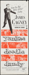 "Movie Posters:Musical, Yankee Doodle Dandy (Warner Brothers, R-1957). Insert (14"" X 36""). Musical.. ..."