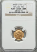 Chile, Chile: Republic gold Mint Error 5 Pesos 1895-So AU58 NGC,...