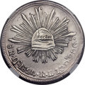 """Mexico, Mexico: Republic Cap and Rays """"Hookneck"""" 8 Reales 1824 Do-RL XF45NGC,..."""