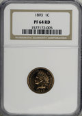 Proof Indian Cents: , 1893 1C PR64 Red NGC. NGC Census: (18/18). PCGS Population (41/33). Mintage: 2,195. Numismedia Wsl. Price for NGC/PCGS coin...