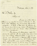 "Autographs:Statesmen, Millard Fillmore Autograph Letter Signed ""Millard Fillmore""as congressman. One page, 8.25"" x 10.25"", Washington, De..."