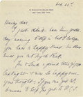 "Autographs:U.S. Presidents, Eleanor Roosevelt Autograph Letter Signed, ""E.R., two pages,6"" x 7"", New York City, to Henry Hooker, The White House, W...(Total: 1 Item)"