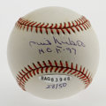 Autographs:Baseballs, Phil Niekro Single Signed Baseball. Offered here is a pristinesingle signed ONL (Coleman) baseball signed by perhaps the m...