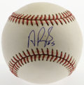 Autographs:Baseballs, Albert Pujols Single Signed Baseball. Considered to be perhaps thepremier hitter in today's major leagues, Cardinals first...