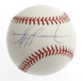Autographs:Baseballs, Sammy Sosa Single Signed Baseball. Quality example of Sammy Sosa'ssignature is here on the OML baseball. Great chance to ...