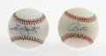 Autographs:Baseballs, Paul Molitor and Robin Yount Single Signed Baseballs. These twoplayers shared fifteen seasons together as the core of the ...(Total: 2 Items)
