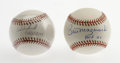 Autographs:Baseballs, Dave Winfield and Bill Mazeroski Single Signed Baseballs. Twomarvelous single signed orbs are provided here courtesy of HO...(Total: 2 Items)