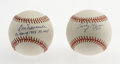 Autographs:Baseballs, Early Wynn and Don Newcombe Single Signed Baseballs. Both of thesestar pitchers has provided a single signed baseball for ... (Total:2 Items)