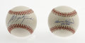 Autographs:Baseballs, Carl Yastrzemski and Harmon Killebrew Single Signed Baseballs. TwoOfficial American League baseballs presented here each c... (Total:2 Items)