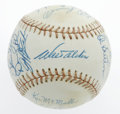 Autographs:Baseballs, Los Angeles Dodgers Adult Fantasy Camp Baseball Signed by 19. ONL(Feeney) baseball from the twice-annual camp for adult fa...