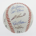 Autographs:Baseballs, Los Angeles Dodgers Adult Fantasy Camp Baseball Signed by 15.Fantasy camp hosted by the Los Angeles Dodgers gives adult fa...